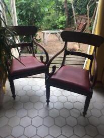 Vintage bent wood dining chairs