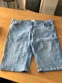 F&F ladies denim shorts size 20