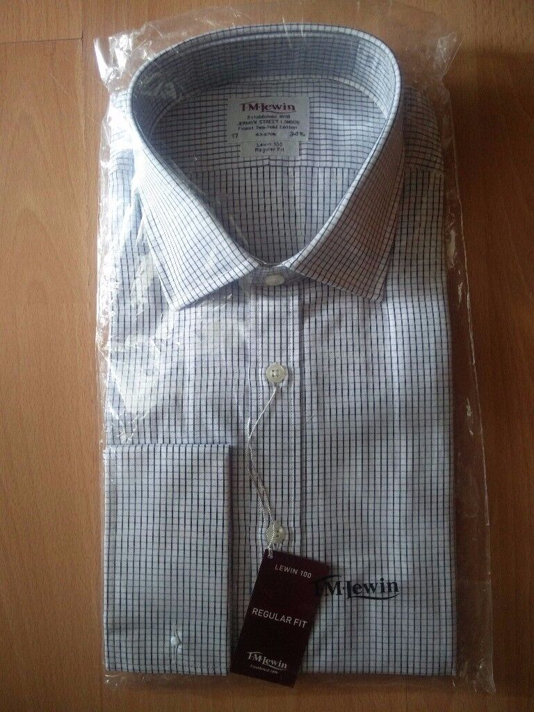 """NEW sealed with tags Cedarwood state men branded long sleeve shirt 17.5"""" casual formal"""