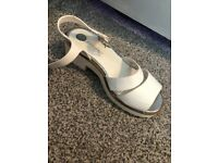White chunky river island sandals size 3