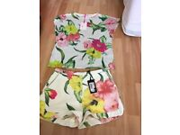 Ted Baker shorts and matching top size 1