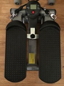 Fitness stepper + small hand weights for jogging