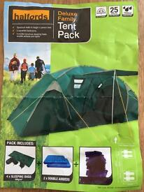 DELUXE FAMILY TENT PACK, 4 Man £100 o.n.o