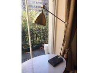 GOLD TABLE LAMP WITH BLACK MARBLE BASE ! 3 adjustable points