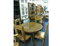 Table and 4 chairs #325 88 £85