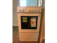 New World 50ES White Solid Plate Freestanding electric Cooker with Single Oven