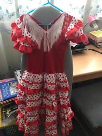 NEW Spanish Flamingo Dress 7-9 years