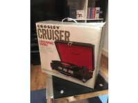 Crosley Cruiser Turntable - Black/Red *USED ONCE*