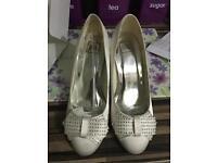 Wedding/bridal shoes size 7