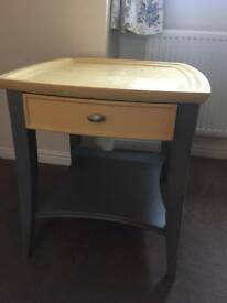 Grey and yellow chalk painted unit