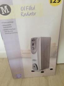 2 x oil filled radiators