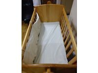 Toy r us swinging crib and cot bed