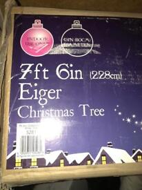B and q 7ft 6 eiger Christmas tree HALF PRICE need gone by tmrw!