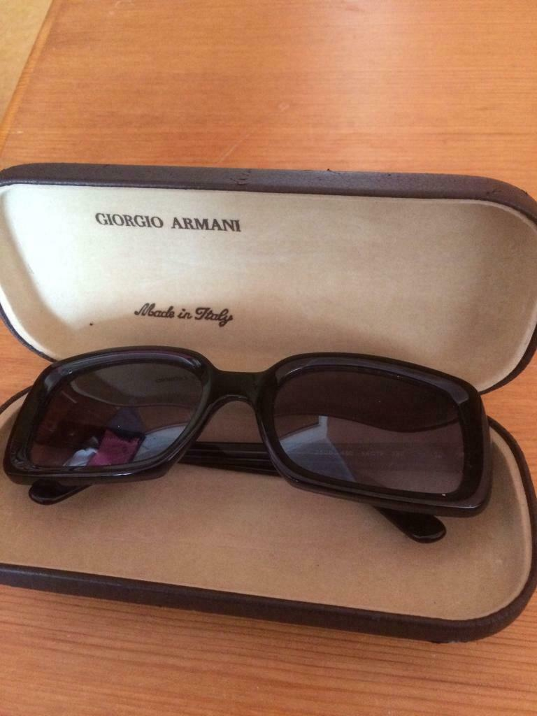 bb29b7bfe19 Giorgio Armani Black sunglasses. Vintage. Perfect with original paperwork  and case.