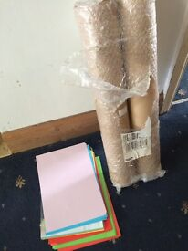 2x Rolls of brown wrapping paper 50m each & a wad of rainbow coloured A4 paper (kid to draw on) £10