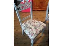 4x shabby chic style dining chairs