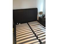 King Size leather sleigh bedstead