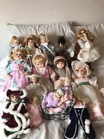 Porcelain dolls.