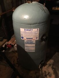 Direct vented cylinder, with 2x immersion heaters