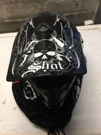 Boys shot race gear helmet