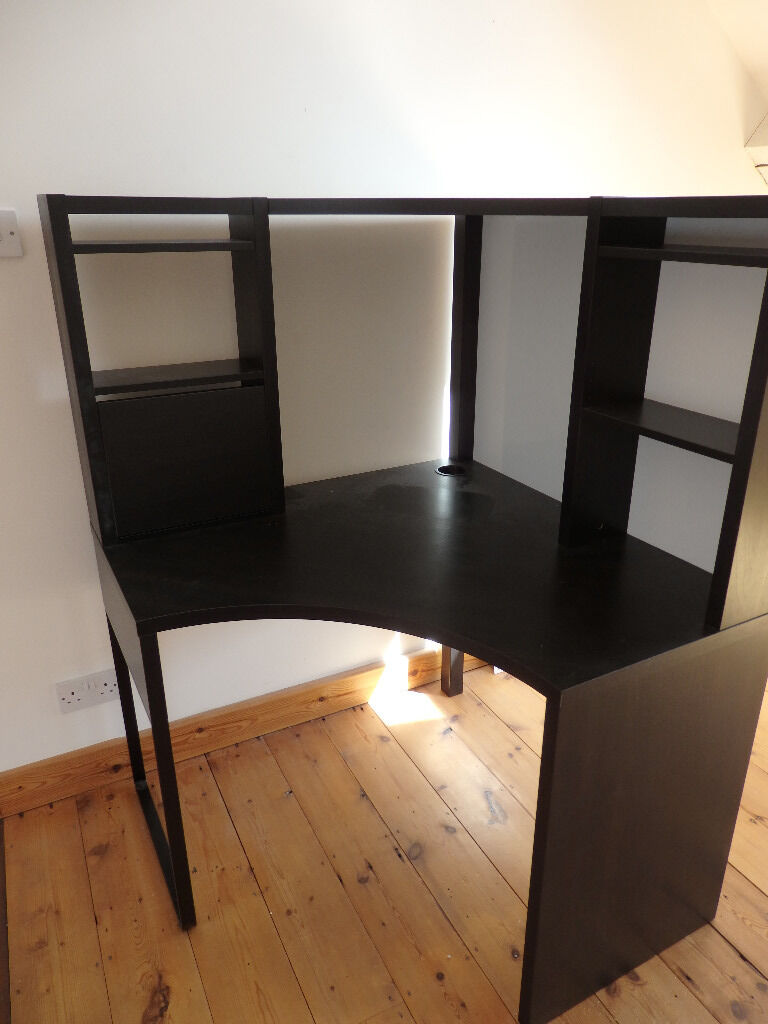 ikea micke corner desk black brown in clifton bristol. Black Bedroom Furniture Sets. Home Design Ideas