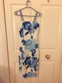 Wedding guest bodycon flower dress, UK 8