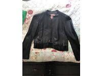 Juicy Couture Black Leather Jacket Size M