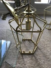 Classic Brass and Glass Ceiling Lantern