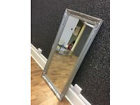 Large Salon/hairdressing silver ornate mirror