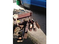 Old woodworking tools and tool box