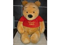 "Disney Winnie The Pooh GENUINE Giant sized Brand New Genuine plush bear 25"" tall"