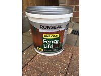 Ronseal fence life paint - dark oak