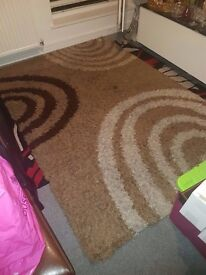 Lovely large soft rug Brown Cream