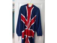 Union Jack Hooded Onesie (Small)
