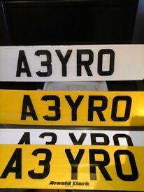 A3YRO Registration number