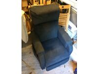 Rise and recline chair. Blue. C1 petite model. Good condition.