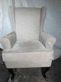 Queen Anne styled chair in cream