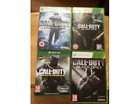 4 Call of Duty games, Black ops 2, black ops, World at War and Infinite Warfare