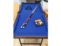Pool Table 6x4, Balls, Cues & Triangle
