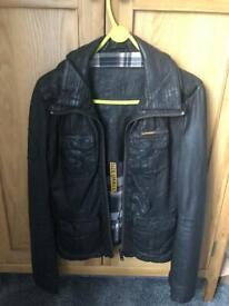Brown leather superdry jacket