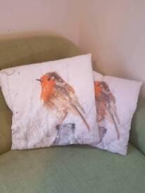 2x christmas cushions