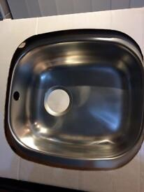 One bowl sink and drainer stainless steel