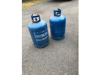 Empty Calor Gas Butane gas bottles