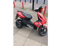 yamaha aerox 50cc , rides very nice and smooth, just had new top end rebuild, mot till 18/01/2018,