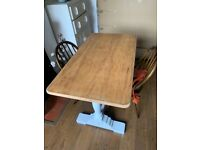 Antique pine vintage dining table . Vgc