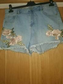 New Look Embroided shorts