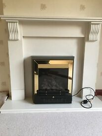 Solid marble fire surround