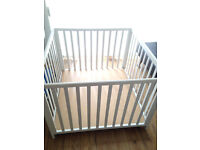 Large Wooden Baby Play Pen - Strong, Sturdy, Attractive, Safe - 1m x 1m (Hardly Used - Like New)
