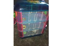 Lazy Bones 3 Tier Hamster Cage