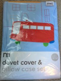 Cot bed duvet cover set brand new never been used